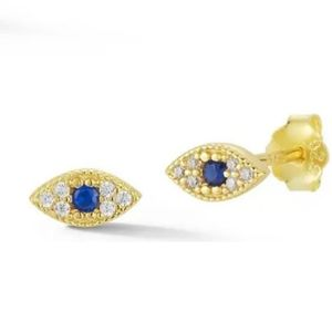 SPEHRA MILANO / NORDSTROM Classic 14K Gold Plated Blue Eyes Earrings NWT